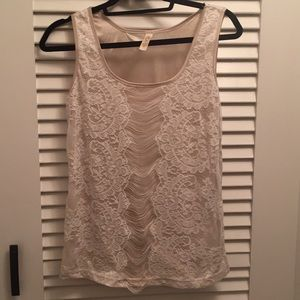 Lace tank top small